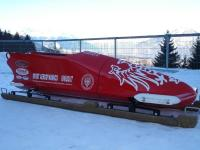 Bobsled used by the italian team