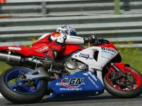 Motorbike of the SC Racing team on track