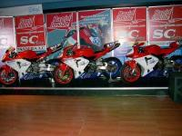 Exhibition of some models of the SC Racing team motorbikes