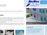 Screenshots sito web MarMax